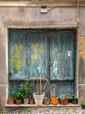 Cenas de uma caminhada ao longo das aleias de Alghero Fotografia de Stock