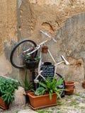 Cenas de uma caminhada ao longo das aleias de Alghero Fotos de Stock Royalty Free