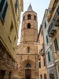 Cenas de uma caminhada ao longo das aleias de Alghero Imagem de Stock Royalty Free
