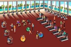 Cenas dentro de um fitness center Foto de Stock