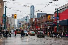 Cenas diversas da cidade de China em Toronto, Canadá fotos de stock