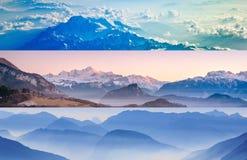 Cenas do pico de montanha Fotografia de Stock