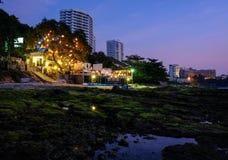 Cenas locais das praias de Tailândia - Pattaya imagem de stock royalty free