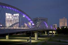 Cenas modernas bonitas da noite de Fort Worth da cidade Fotos de Stock