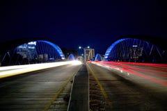 Cenas modernas da noite de Fort Worth da cidade Foto de Stock