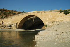 Cendere bridge, Kahta, Turkey Royalty Free Stock Photos