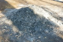 Cendres brûlantes Photo stock