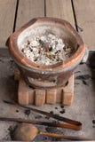 Cendres dans un fourneau Image libre de droits