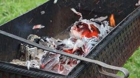 Cendres de combustion lente banque de vidéos