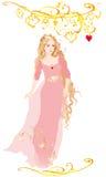 Cendrillon dans la robe de rose illustration de vecteur