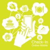 Cene dello Smart Phone, del partito del touch screen ed alimenti Fotografia Stock Libera da Diritti
