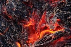 Ceneri di fuoco senza fiamma Immagini Stock Libere da Diritti