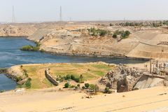 Aswan from top - Egypt Royalty Free Stock Images