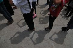 Ceng Beng Ritual in Indonesia Stock Photo