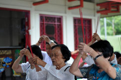 Ceng Beng Ritual in Indonesia Royalty Free Stock Photo