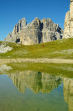 Cengia lake, near Tre Cime di Lavaredo in the Dolomites Royalty Free Stock Photography