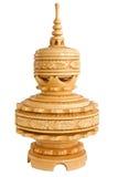 Cenicero de madera Handcrafted único Fotos de archivo libres de regalías