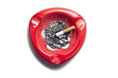 Cenicero rojo Imagen de archivo libre de regalías