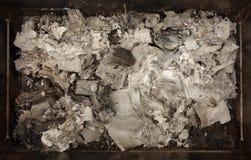Cenizas de papel quemadas Fotografía de archivo