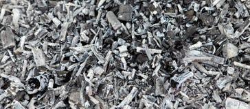 Cenizas del carbón de leña. Fotografía de archivo libre de regalías