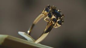 Cenni Diamentowi pierścionki Świetnego luksusowego diamentowego jewellery nadokienny pokaz z ringowym pedantem Złocisty pierścion zbiory