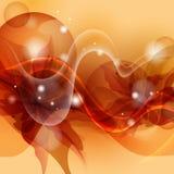 Cenni storici arancio stilizzati del fiore. Fotografia Stock