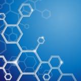 Cenni storici astratti della molecola. Immagini Stock
