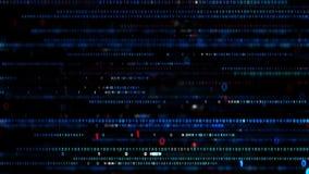 Cenni storici binari di Digitahi Codice digitale di grandi dati Concetto futuristico di tecnologia dell'informazione archivi video