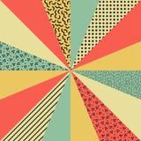 Cenni storici Colorful di Retro illustrazione vettoriale