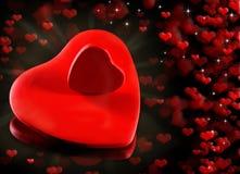 Cenni storici dei cuori del biglietto di S. Valentino. Fotografia Stock