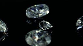 Cenni storici dei diamanti stock footage
