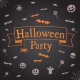 Cenni storici del partito di Halloween Vector il modello per il disegno Fotografia Stock Libera da Diritti