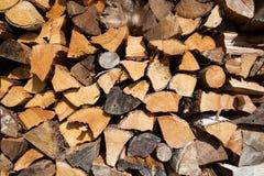 Cenni storici della legna da ardere Fotografie Stock Libere da Diritti