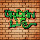 Cenni storici della parete dei graffiti Fotografia Stock Libera da Diritti