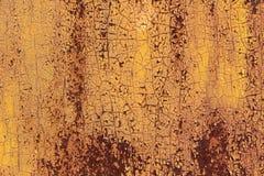 Cenni storici della parete del metallo Fotografie Stock