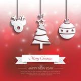 Cenni storici di applique di Natale vettore/illustrazione Fotografia Stock