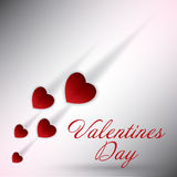 Cenni storici di giorno di biglietti di S. Valentino. Immagine Stock Libera da Diritti