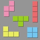 Cenni storici di Tetris. Vettore Fotografia Stock