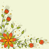 Cenni storici floreali luminosi. Immagini Stock