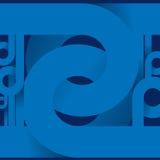 Cenni storici a spirale blu astratti. Fotografia Stock