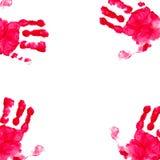 Cenni storici. Stampa della mano.   Fotografie Stock