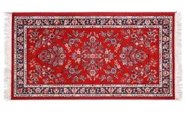 Cenny perski dywan na białym tle obrazy stock