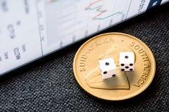 Cennych metali inwestorski ryzyko Obrazy Royalty Free