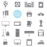 Cenografia do ícone dos aparelhos eletrodomésticos do vetor Imagem de Stock Royalty Free