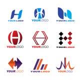 Cenografia do vetor do logotipo da letra H ilustração stock