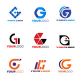 Cenografia do vetor do logotipo de G da letra Foto de Stock Royalty Free