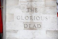 Cenotafiet, Whitehall Royaltyfria Bilder