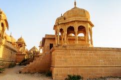 Cenotafios de Bada Bagh, los monumentos del rey Foto de archivo