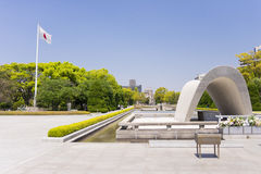 The cenotaph for all the victims who died from the A-bomb in Hiroshima Royalty Free Stock Photos