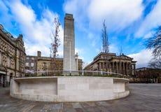 Cenotaph flaga rynek, Lancashire, Anglia zdjęcie royalty free